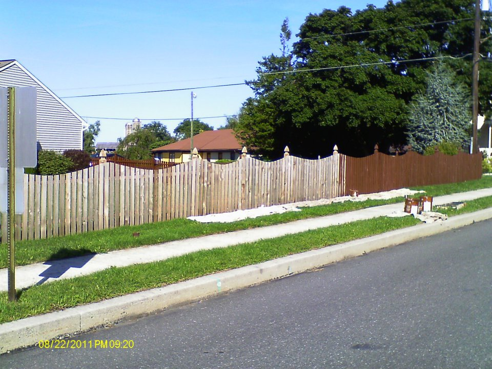 Fence Staining - Custom Painting - Chester County Painter Keith Reeser Painting llc