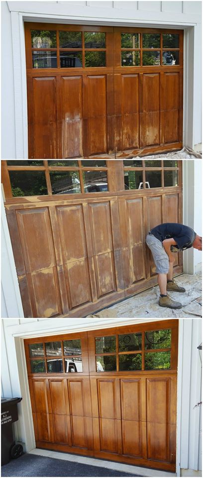 Custom Staining - Garage Door Staining - Keith Reeser Painting LLC